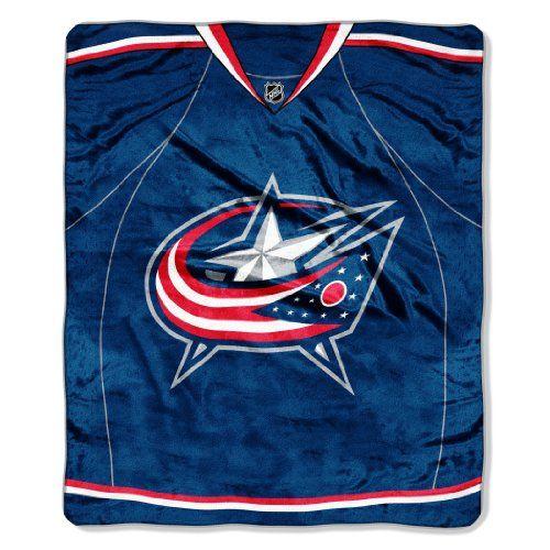 NHL Jersey Royal Plush Raschel Throw Blanket, 50x60-Inch