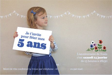 invitation 5ans susie by Fifi Mandirac