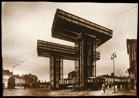 """Staffa delle nuvole"", Mosca, El Lisitskij, 1924-1925 (da Lisitskij-Küpfers S., El Lisitskij, pittore architetto tipografo fotografo, Roma, 1967)."