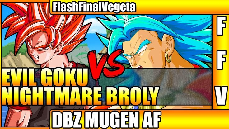 DragonBall What if - Evil Goku vs Nightmare Broly Super Saiyan 4 (Sprite...