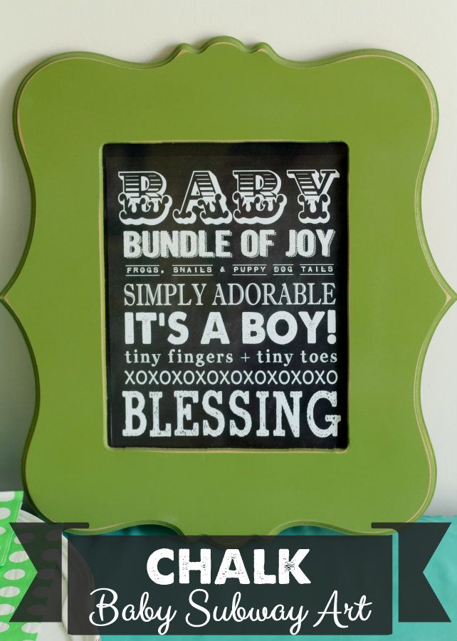 Chalkboard Baby Subway Art - a cute and free download on { lilluna.com } Makes the perfect baby gift!!