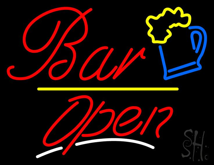Bar Open Neon Sign 24 Tall x 31 Wide x 3 Deep, is 100% Handcrafted with Real Glass Tube Neon Sign. !!! Made in USA !!!  Colors on the sign are Red, Yellow, Blue and White. Bar Open Neon Sign is high impact, eye catching, real glass tube neon sign. This characteristic glow can attract customers like nothing else, virtually burning your identity into the minds of potential and future customers. Bar Open Neon Sign can be left on 24 hours a day, seven days a week, 365 days a year...for decades…