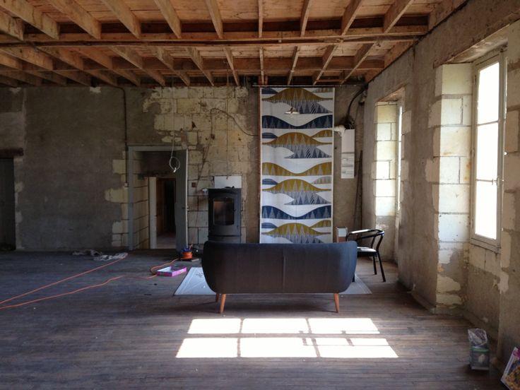 Marimekko fabric + Coogee sofa + Normann Copenhagen chair