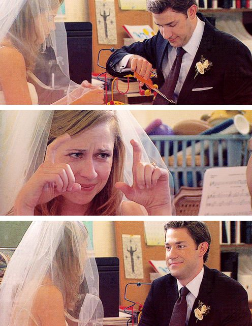 Jim Halpert will never selflessly comfort you on your wedding day because you will never get to marry Jim Halpert.