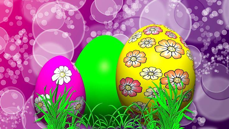 Wielkanoc, Kolorowe, Pisanki, Grafika 2D