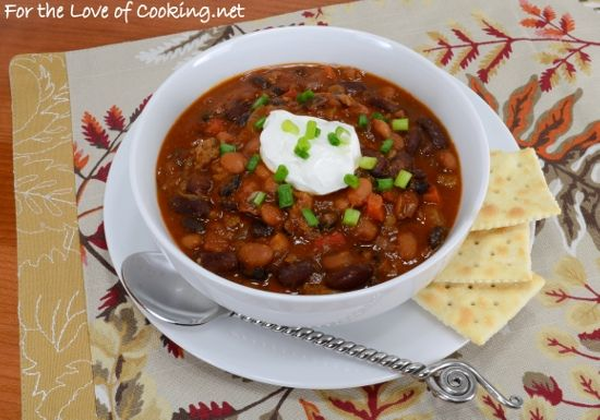 Three Bean and Beef Chili | Recipes to try | Pinterest