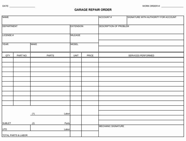 Auto Repair Estimate Form Pdf Fresh Auto Repair Invoice Templates 10 Printable And Fillable Auto Repair Estimates Auto Repair Car Repair Service