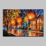 pintados à mão pintura a óleo da flor da árvore moderna paisagem abstrata sobre tela um painel pronto para pendurar 75x150cm de 2016 por R$223.05