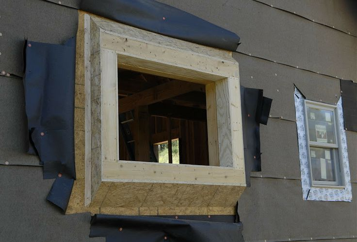 Window Bump Out Framing House Windows Bungalow Kitchen Garage Roof