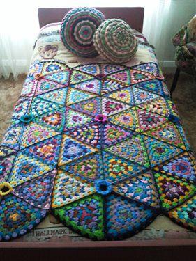 Crochet Granny Triangle Afghan