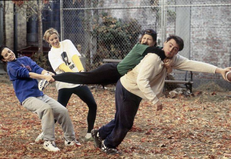 Monica, Phoebe, Rachel & Joey