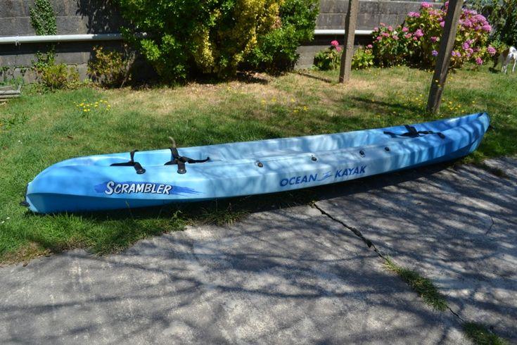 Loue kayak 1 place (1 enfant   1 adulte)Pagaie , gilet, bidon transport, porte kayak, siège.