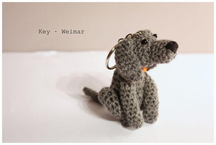 Amigurumi Weimaraner  #amigurumi #amigurumis #weimar #weimaraner #weim #wyżeł weimarski #weimarski #wyżeł #szydełkowy #crochet #handmade #brelok #greyghost #grey #pies #dog #pet #Weimaraner Vorstehhund