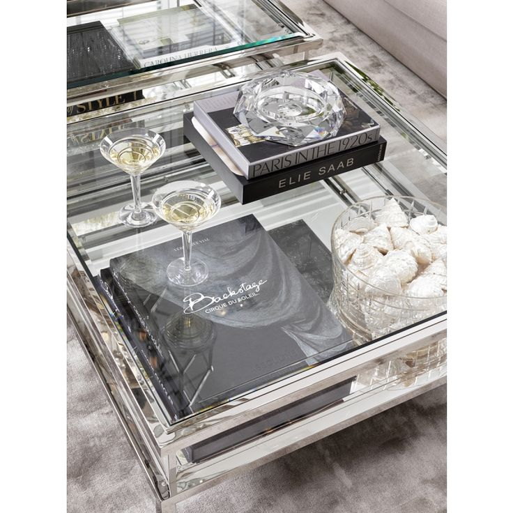 Eichholtz Harvey Square Coffee Table - Stainless Steel $2500