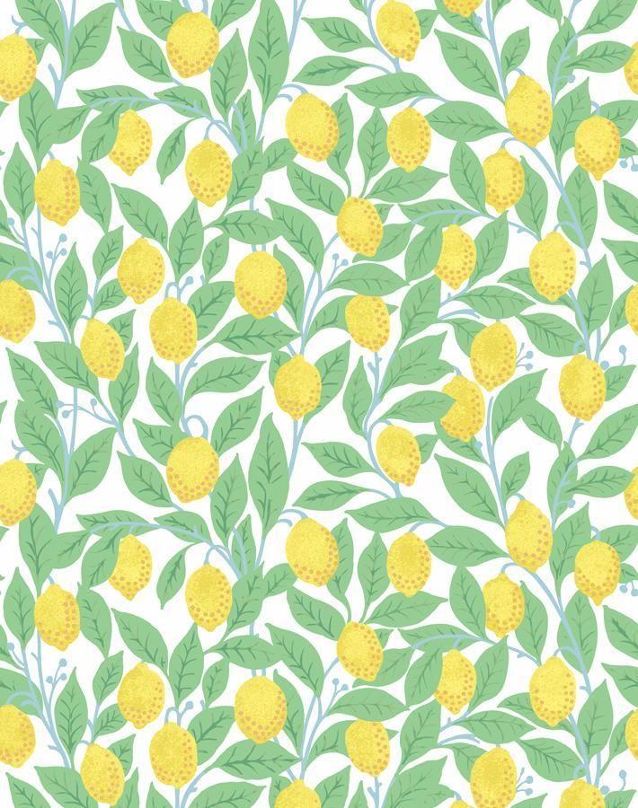 Lemons Wallpaper By Nathan Turner White Removable Wallpaper Wallpaper Roll Wallpaper