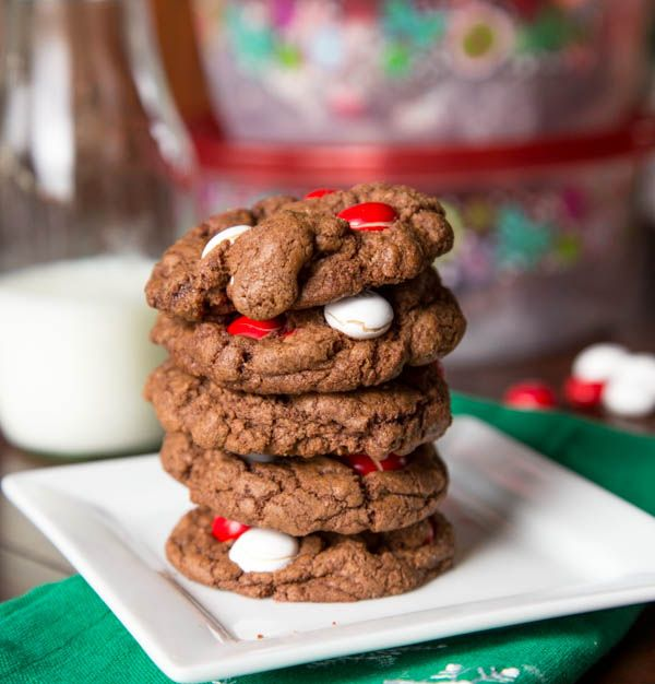 White Chocolate Peppermint M & M Cookies | cookies | Pinterest