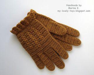 Сундучок: МК Вязание перчаток крючком
