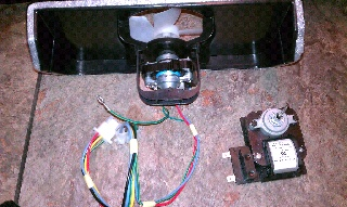 Frigidaire refrigerator not cooling because the evaportor fan motor failed to work.