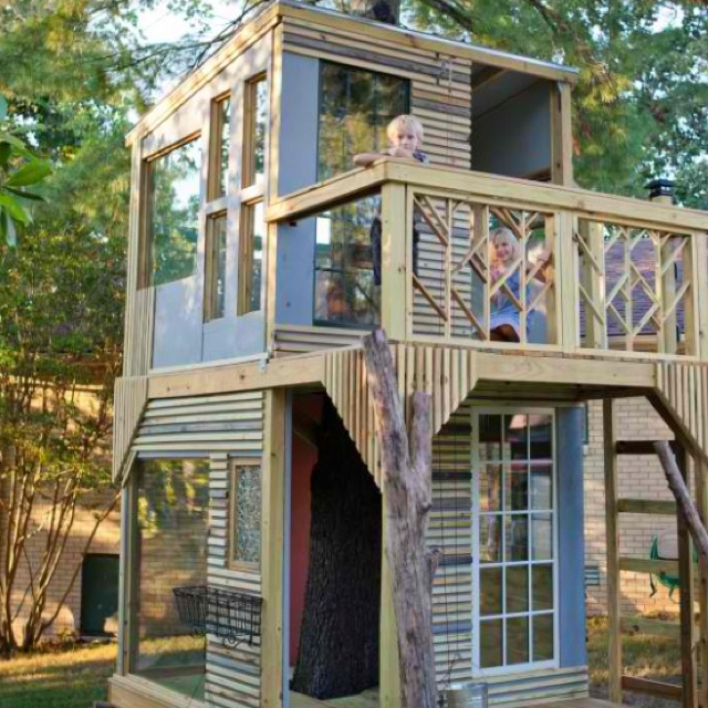 Love this treehouse #kids