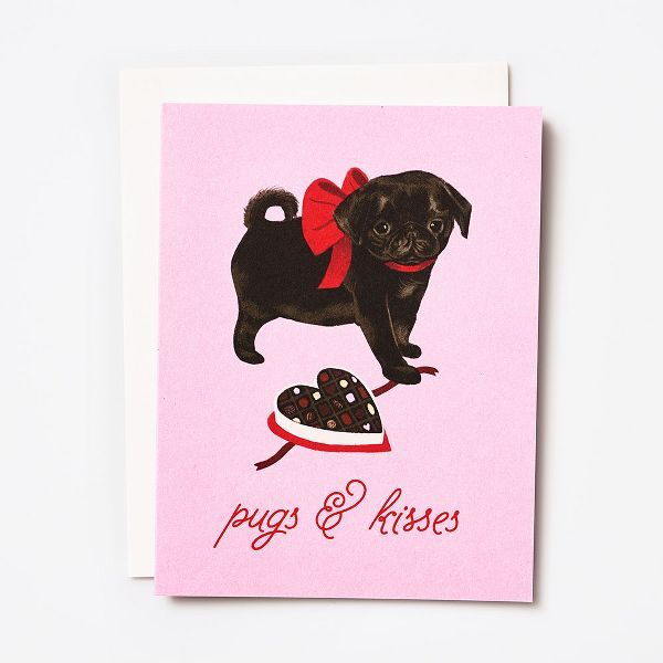 Pugs Kisses Valentine Card In 2020 Cards Cute Cards Valentines