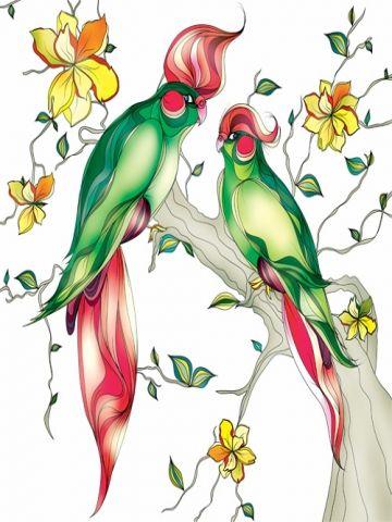 Parrot Art Wallpaper
