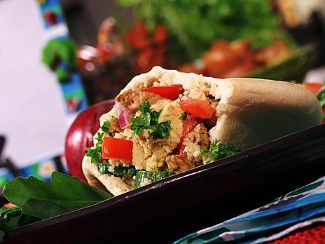 Fyllt kryddigt pitabröd med smak av Libanon.