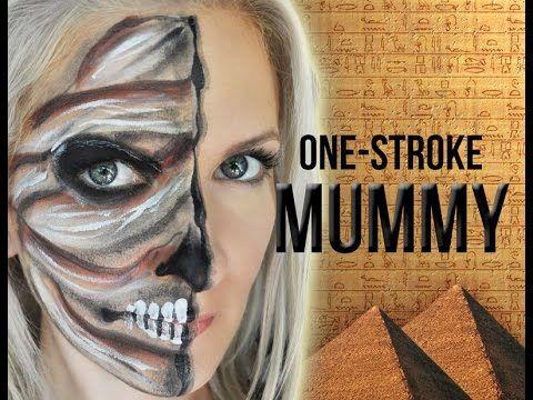 Mummy Halloween Face Painting Makeup Tutorial - YouTube