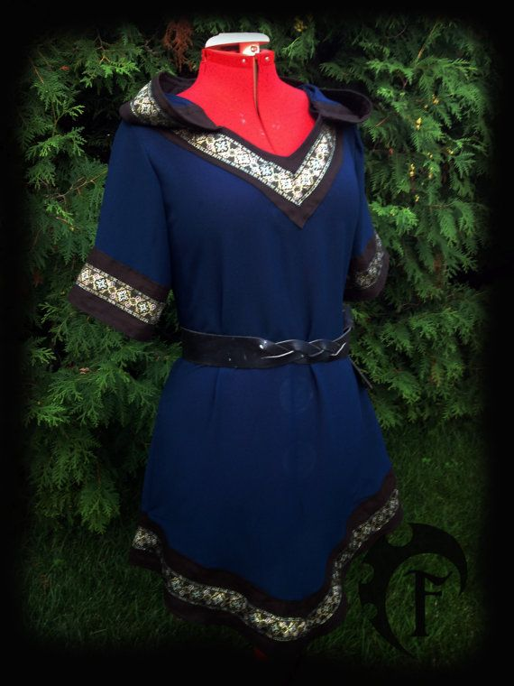 Customizable Women Viking Tunic medieval fantasy by FeralCrafter