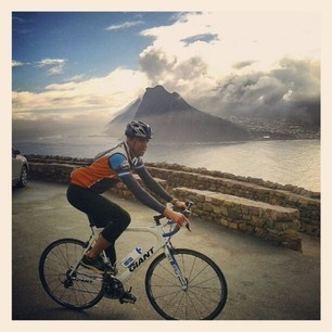 Road cycling tour, Hout Bay on a 'miserable winters day'
