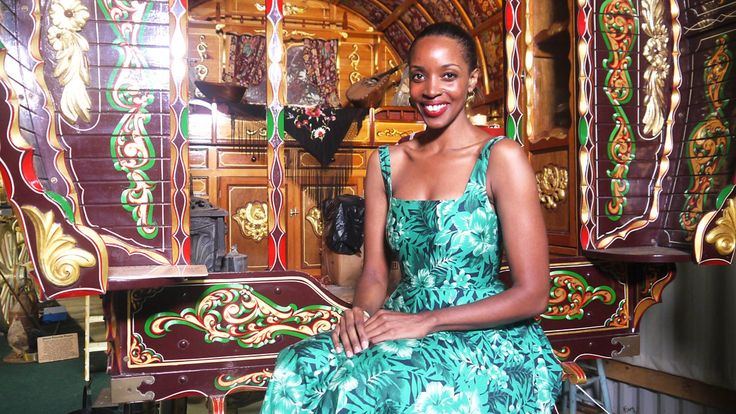 Josie d'Arby enjoys the rich heritage inside Britain's only Romany museum.