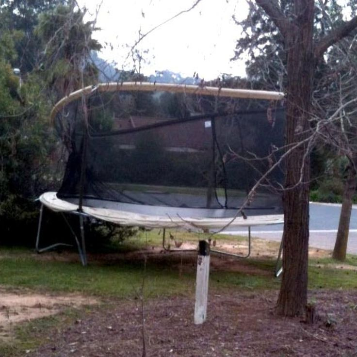 Trampoline Blown Into Front Yard Wondonga Victoria Sunmitted By Sue Anne JOnes