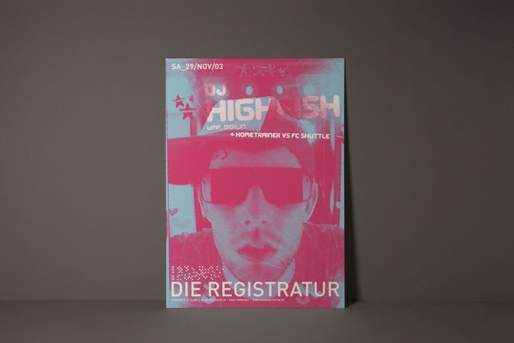 Poster Design für Die Registratur: DJ Highfish || Designbüro Designliga (München)