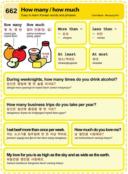 Learn Korean: How many/How much
