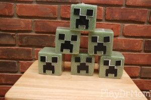 Shoot the Creepers: party game with green floral foam from dollar tree.Shoot with nerf guns