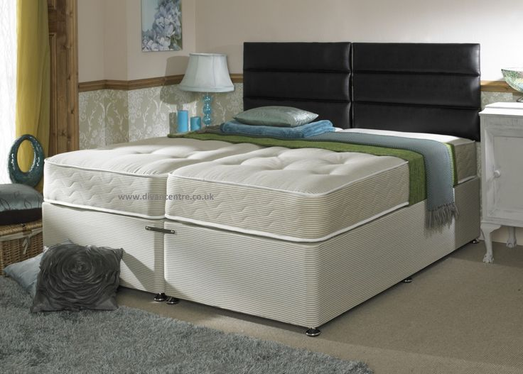 Hotel Contract Pocket 1000 6ft Super King Size Zip and Link Divan Bed