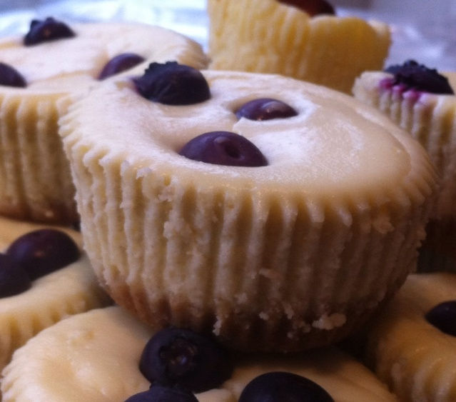 Individual Baked Cheesecakes  From: Crumbly Wumbly