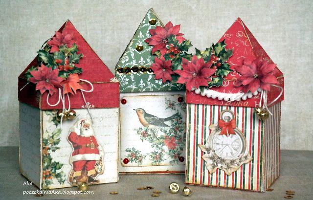Blog studio75.pl: Świąteczne domki - kurs / Christmas houses - tutor...