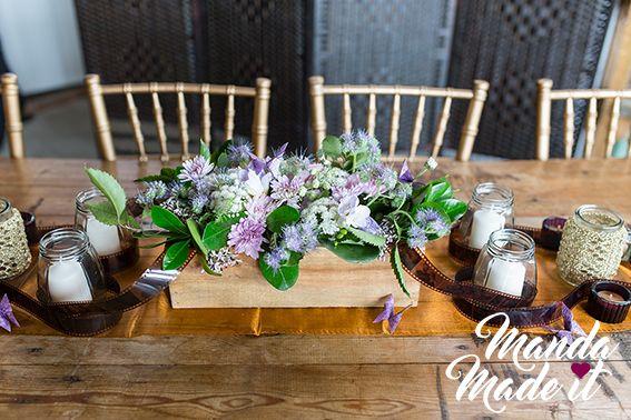 DIY wedding table planter boxes