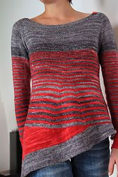 Aphrodite is knitted seamlessly from the top down with raglan sleeves.