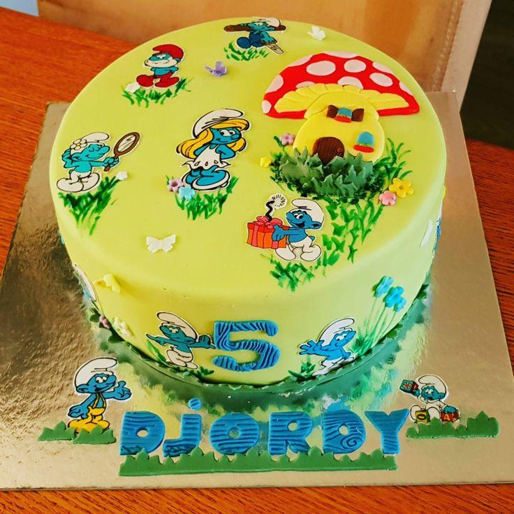 #Smurf cake