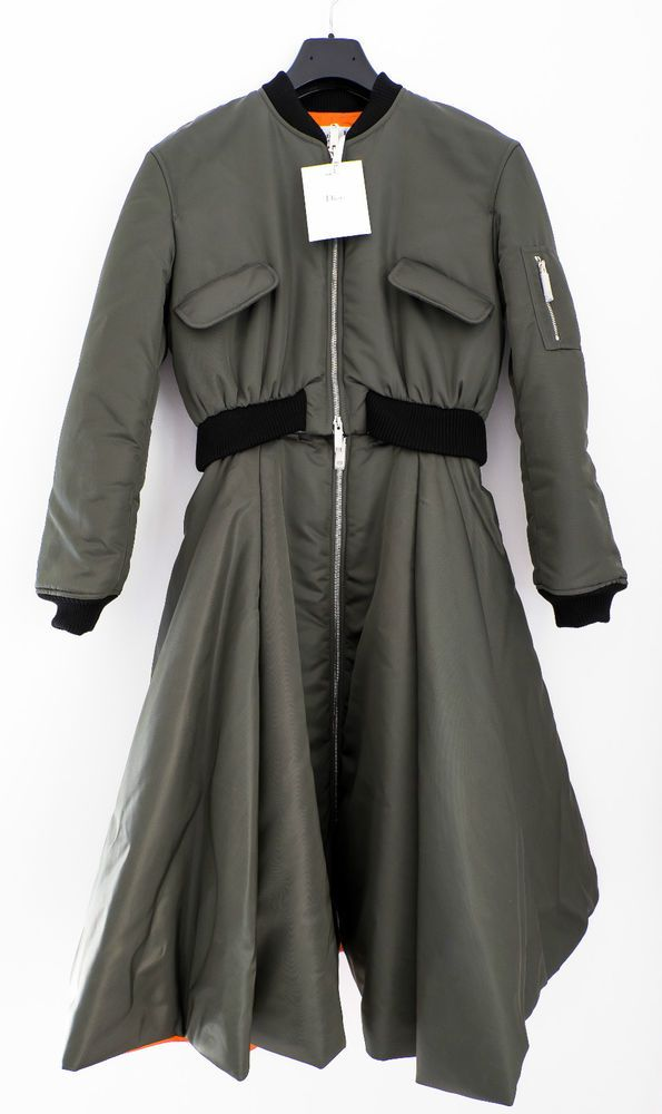 CHRISTIAN DIOR BY RAF SIMONS ADJUSTABLE MILITARY BOMBER COAT DRESS 38FR, 6600$ | Clothes, Shoes & Accessories, Women's Clothing, Coats & Jackets | eBay!