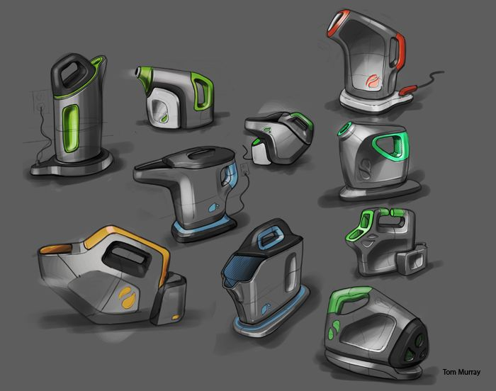 Examples of digital sketching and rendering