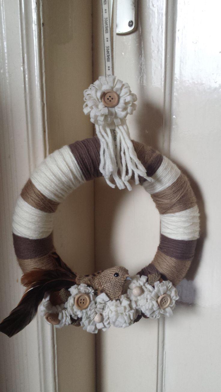neutral spring wreath