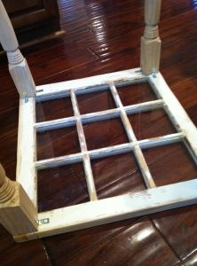 window into coffee table! Finally something to do with those windows I've had for years!!
