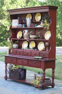 DIY Chalk Paint (Plaster of Paris Paint) Hutch @Jo Krueger a Dull Day