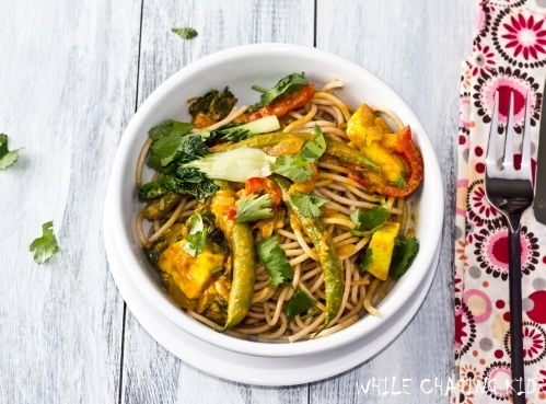 Thai Curry Vegetables withPasta: Thaicurrywm, Vegetarian Cookbooks, Recipe, Thai Curries, Vegetarian Dishes, Thai Veggies Dishes, Flavored Vegetarian, Healthy Food, Curries Vegetables