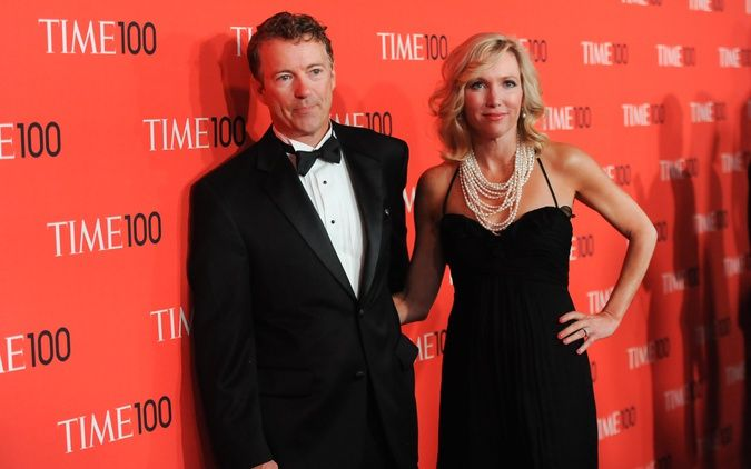 Really digging Rand Paul's wife's style here. Simple and elegant.
