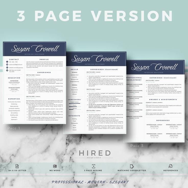 Creative u0026 modern Resume Template Professional CV