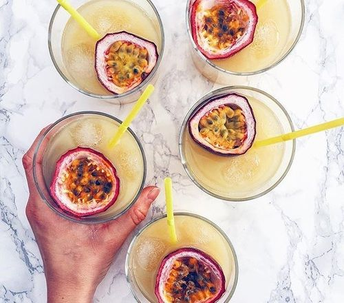 drinks, fresh, and passion fruit image