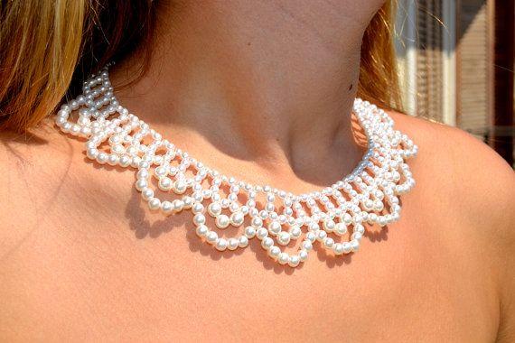bridal statementpearl necklace